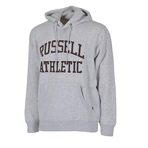 Russell Athletic Sweat-shirt pour homme Full Zip Pull Over Tackle Twill Hoody Gris, XL