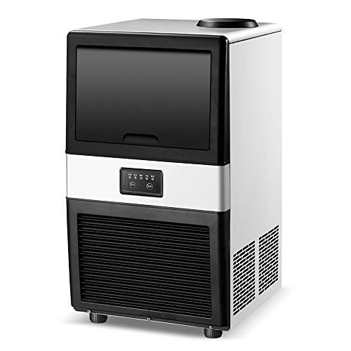Große Eismaschine, Quadratische Eiswürfelmaschine Für Gewerbliche Milchteeläden, Cafés, Bars, 24-Stunden-Eisherstellungskapazität 40 Kg