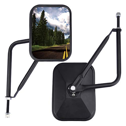 JUSTTOP Jeep Mirrors Doors Off, Side View Mirrors for Jeep Wrangler CJ YJ TJ JK JL & Unlimited,Quicker Install Door Hinge Mirror for Safe Doors Off Driving - 2Pack