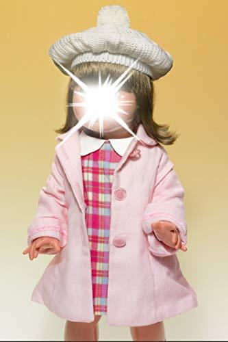 Mariquita Pérez- Conjunto Vestido Cuadros/Abrigo Rosa con Boina Complementos, Color beig...