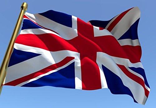 NS Bandera de Gran Bretaña del Reino Unido 100 x 150 cm de exterior de tela náutica de 130 g/m² cortavientos