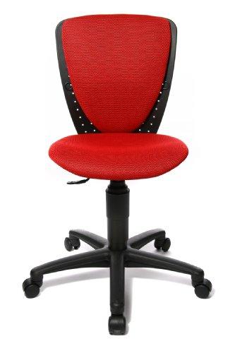 Topstar 70570BB20 High S'cool, Kinder- und Jugenddrehstuhl, Schreibtischstuhl für Kinder, Bezugsstoff rot