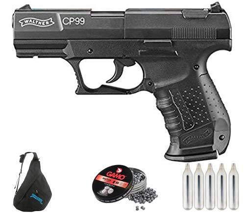 Walther CP99 (versión balines) | Pack Pistola de balines (perdigones de Plomo) con maletín. Arma de Aire comprimido CO2 Calibre 4,5mm <3,5J