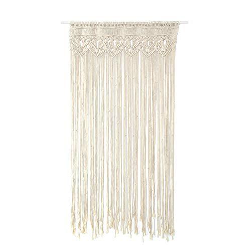 Ridecle® Macrame Wandbehang gewebt Tapisserie 90 * 180 cm Makramee Tür hängend, Raumteiler, Makramee Vorhänge, Fenstervorhang, Türvorhänge, Hochzeit Hintergrund Arch BOHO Wanddekor