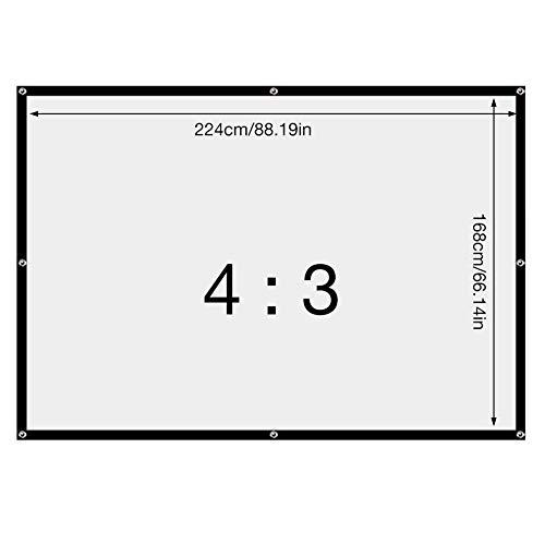 Beamerleinwand Deckenmontage , 110 Zoll Beamer Leinwand Outdoor - 16: 9 /4: 3 HD 4K 3D - Kinoleinwand Rolloleinwand Beamer , Beamerleinwand Projektionswand Projektionsleinwand Für Heimkino, Büro
