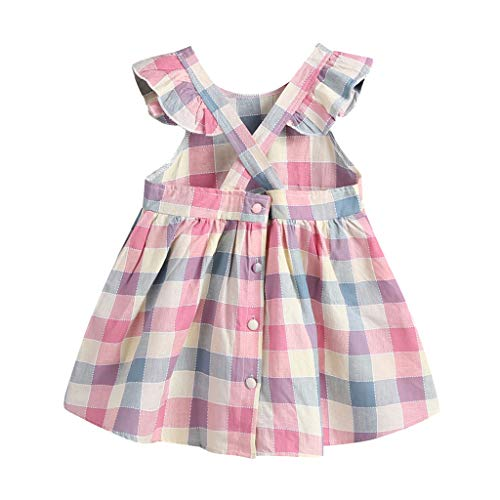 FRAUIT jurk meisjes plaid print rugvrije jurk mouwloze zomerjurk casual pak bekleding outfits jurk