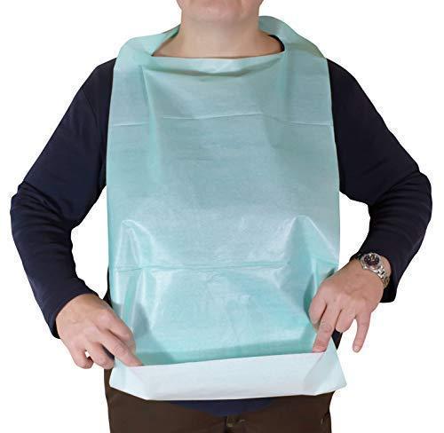 50 Pieza una Sola Vez Baberos Comedor para Adulto y Infantil Babero - Tamaño 64cm x 36cm medi-inn