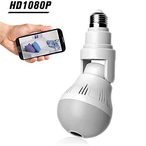 1080P Beveiliging Wifi Camera, Lamp Panoramische Lamp, Ip Videobewaking Fisheye Hd Ir Nachtzicht Tweerichtingsaudio Buiten Met Tweerichtingsaudio, Alarm, Cloud/Lokale Opslag
