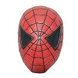 LQ-ZHUOJIAO Máscara De Spiderman para Niños Vengadores Tocados para La Cabeza De Fiesta Tocados para Adultos Cara Completa Capucha De Cosplay Tocado De Disfraces,Red-Kids One Size