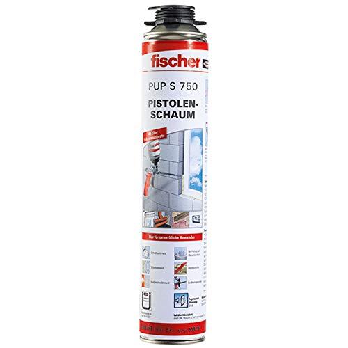 fischer PUP S 750 PU-Schaum für Fugenschall-und Wärmedämmung, luftdicht, B2, auch als Brunnenschaum geeignet, beige, 750 ml-1 Stück-Art-Nr. 539197, weiß