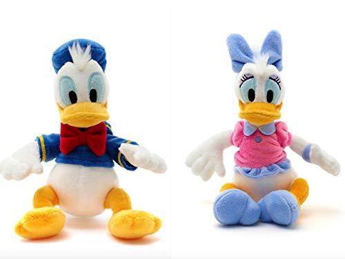 Disney Donald Duck und Daisy Duck Mini Bean Bag Stofftier Set 20cm