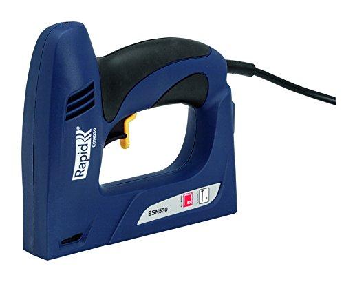 Rapid Elektrotacker ESN530 für Holz und Stoffe, Flache Front, Softgrip, für Klammern Typ 53, 6-14mm und Nägel Typ 8, 15mm