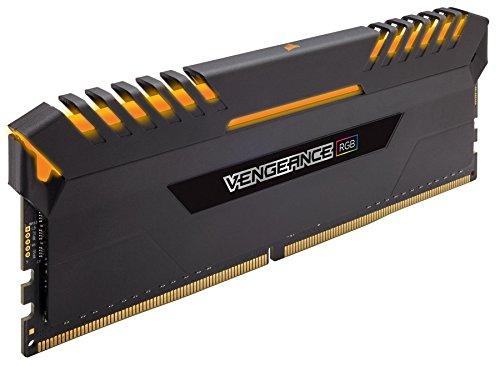 Corsair Vengeance RGB - Kit de Mémorie Enthousiaste (64Go (4x16Go), DDR4, 3733MHz, C17, XMP 2.0) - Noir
