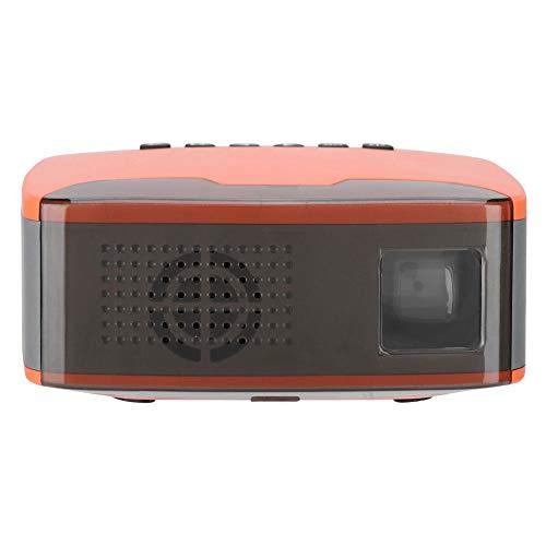 Super Mini proyector Portátil 1080P HD LED Proyector de Bolsillo Home Cinema Beamer Compatible con HDMI, VGA, AV, USB, TF para Cine en casa, películas, Videojuegos, Fiestas y acampadas(110-240V EU) miniatura