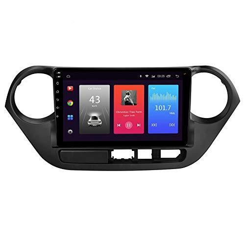 LINNJ Navegación de Coche Android Car Stereo Sat Nav para Hyundai i10 2014 (péptido Izquierdo) Unidad Principal Sistema de navegación GPS SWC 4G WiFi BT USB Mirror Link Carplay Incorporado