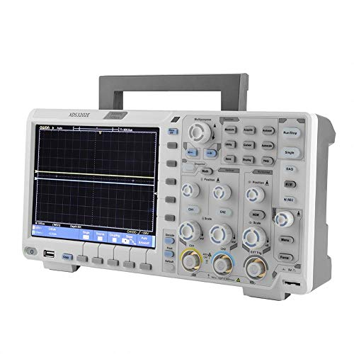 LCD-Oszilloskop, XDS3202E-Oszilloskop Bandbreite 8-Zoll-LCD-Oszilloskop 100-240 V EU-Stecker-Dekodierungsstandard mit USB-Kabel Netzkabel-Prüfspitzen