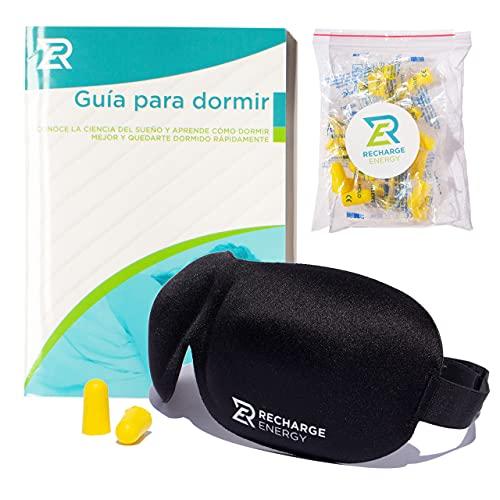 Antifaz para dormir 3D con memory foam. Cómodo, discreto, ligero y ajustable. Te proporciona la oscuridad total que necesitas para mejorar tu calidad de sueño total y conciliar el sueño más rápido.