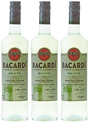 Bacardi Mojito, Classic cocktail Rhum, 70cl, 14,9%, Lot de 3