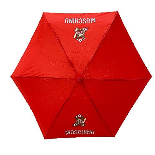 Regenschirm Moschino Supermini rot Teddy Baseball