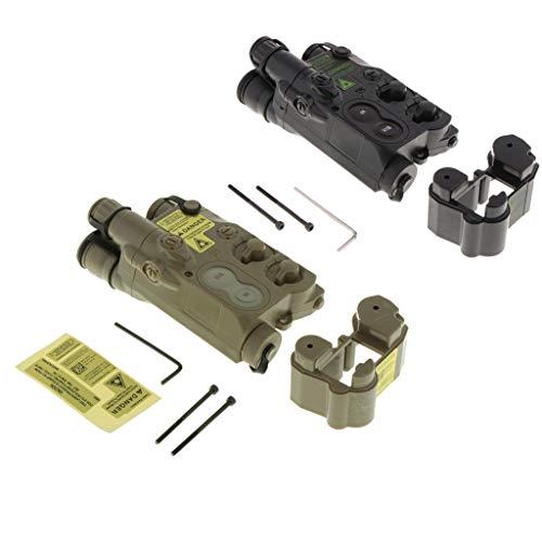 sharprepublic 2X Caja de Batería Multifuncional PEQ-16 para Fanáticos del Ejército, Aventuras de Campo,