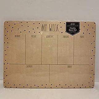 Rae Dunn MY WEEK Weekly Planner Desk Pad - 52 Tear - Off Sheets