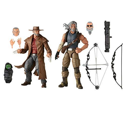 Hasbro Marvel Legends E9296 Series- Marvel Legends Series-Howkeye e Logan (Action Figures 15 cm da Collezione, Design Eccezionale e 10 Accessori, Serie X-Men)