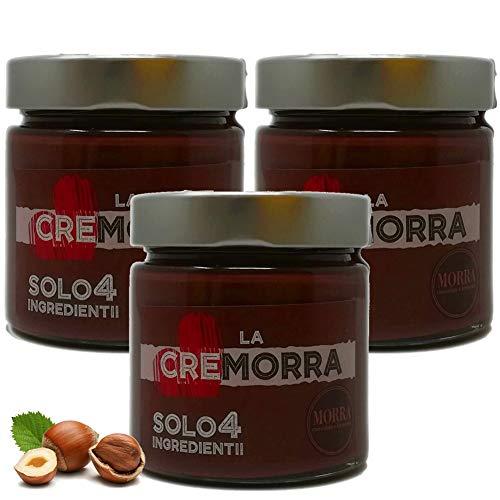 Cremorra Crema spalmabile alla nocciola Piemonte IGP - Solo 4 Ingredienti Prodotto Italiano cioccolato Artigianale spalmabile su panettone pane dolci Crema Vegana - Senza Lattosio (3 pz)