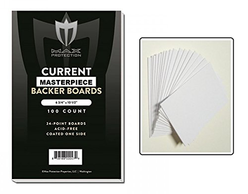 100 White Backing / Sketch Boards by Max Pro (6.75' x 10.5') 24 point thickness - 1 side Kid finish- Great for Sketches or Backing Art