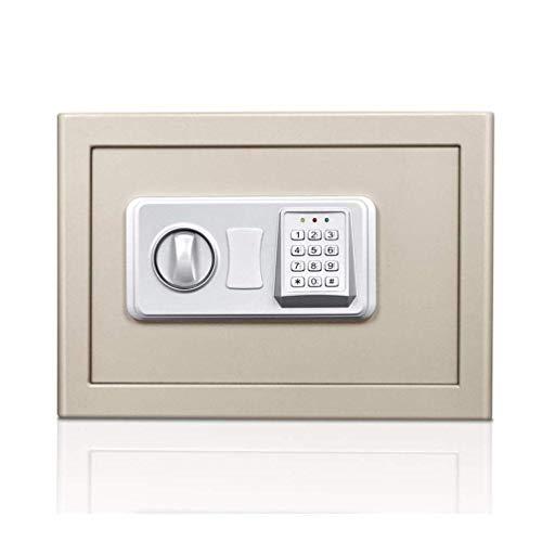 BGB Cassaforte, Cassetta Di Sicurezza con Chiave, Cassetta Di Sicurezza Cassaforte Elettronica in Acciaio ad Alta Sicurezza Casseforti per Ufficio Domestico Cassaforte per Denaro Digitale Cassaforte