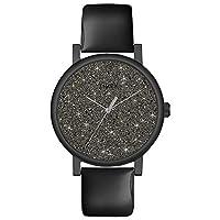 Timex Women 's Originals t2p280ブラックレザーアナログクォーツウォッチブラックダイヤル