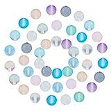 nbeads 160 pièces Perles de Pierre de Lune Synthétiques Br