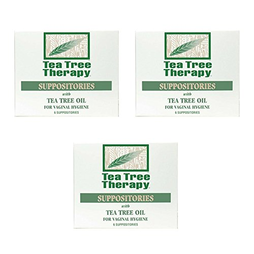 Tea Tree Suppository Tea Tree Therapy (3-Pack of 6)