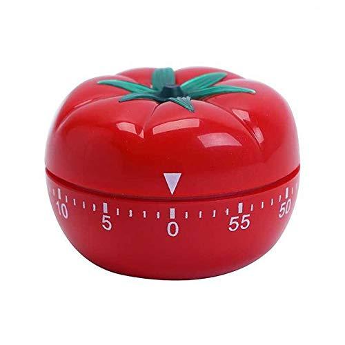 1-60min 360 Grad Tomato Timer Mechanische Timer Countdown-Timer Erinnungsalarms Küchenhelfer (Color : Red)