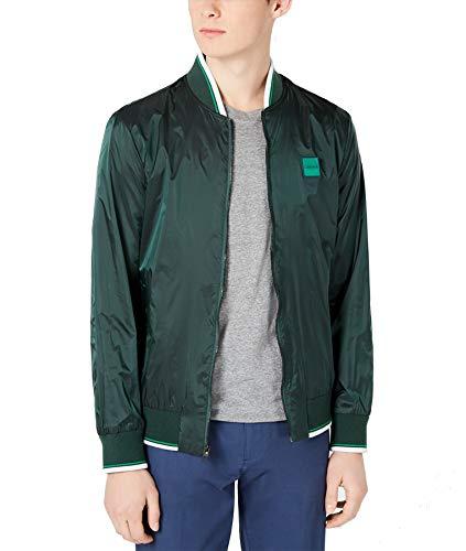 Calvin Klein Men's Water-Resistant Bomber Jacket (Green, Large)