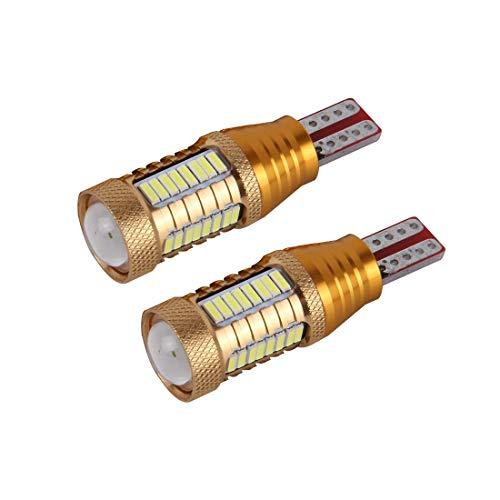 BANAZ Lámpara de Limpieza de Autos LED de luz Blanca de 2 Paquetes Lámpara T15-4014-32SMD + 1Cree 5W 650LM, DC12V