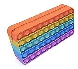AVALLONYA - Trousse à Crayon Pop it Fidget Toys - Silicone de qualité supérieure - Anti Stress poppit - Jeux Fidget Toy popit - Objet satisfaisant popit popites fidjetoys popits - Pop it geant