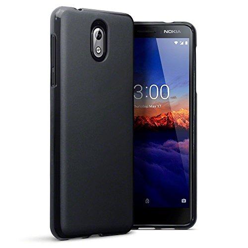 TERRAPIN, Kompatibel mit Nokia 3.1 Hülle, TPU Schutzhülle Tasche Hülle Cover - Matt Schwarz