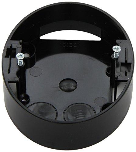 Elso WDE011352 Aufputz Gehaeuse 2-Fach Steckdose 25mm schwarz Renova