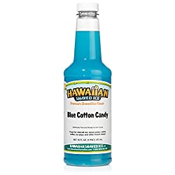 commercial Hawaiian ice syrup, blue floss, pint snow cone syrup