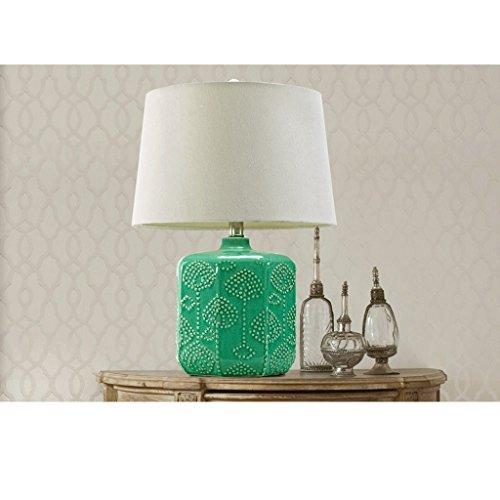 AILI Lámparas de Escritorio Lámparas de Mesa y Mesilla Lámpara de Mesa de Dormitorio de cerámica Verde Moderno Creativa Iluminación de Interior