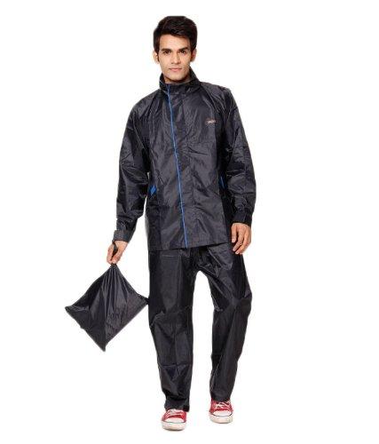 Versalis Men's Polyester Raincoat - Desire Suit (Blue - M)