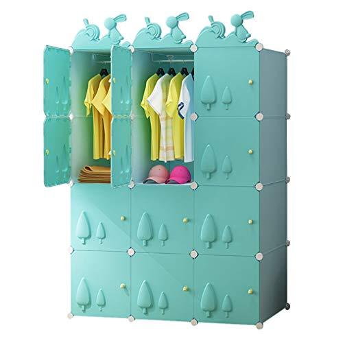 Casiers- Garde-robe portable enfant for suspendre les vêtements, Combinaison armoire, Idéal stockage Organisateur Cube Closet for les livres, jouets (Size : 111×47×147cm)