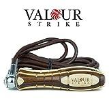 Springseil Leder 250g Abnehmbare Gewichte in den Griffen - Länge verstellbar - Langlebiges Leder -...