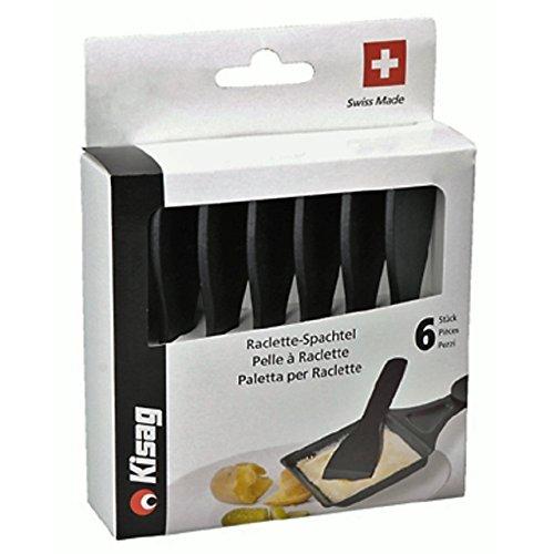 Kisag 6er Set Raclette-Schaber aus Polyamid 12cm Pfannenwender Spachtel Schaber