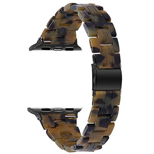 Fhony Correa de Resina para Apple Watch Correa 38mm 40mm 42mm 44mm Correa de Repuesto de Pulsera de Resina Correa de Publicación Rápida para Iwatch Series SE/6/5/4/3/2/1,Dumb Army Green,38/40mm