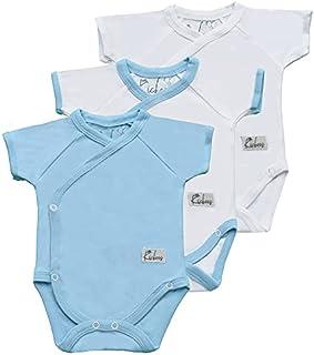 سالوبيتات وملابس قطعة واحدة بكم قصير للاولاد من ليتل كيكرز، مقاس يناسب عمر 0 - 3 اشهر، عبوة من 3
