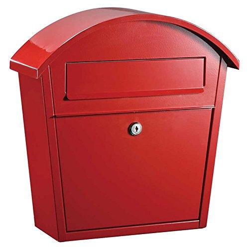 Qualarc WF-PM16-RD Ridgeline Wall Mount Steel Locking Mailbox, Red