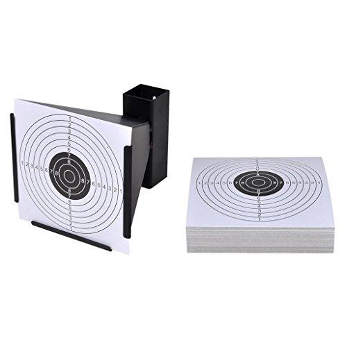 ghuanton Trichter Kugelfang 14 cm + 100 Papier-Zielscheiben Sportartikel Outdoor-Aktivitäten Jagen und Schießen Schießsportzubehör Zielscheiben