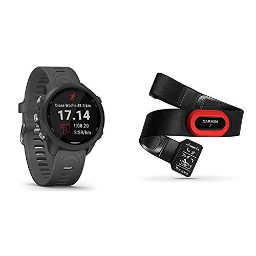 """Garmin Forerunner 245 – GPS-Laufuhr mit individuellen Trainingsplänen. 1,2"""" (3 cm) Farbdisplay, Akkulaufzeit bis zu 7 Tage, wasserdicht & Premium Herzfrequenz-Brustgurt HRM-Run"""