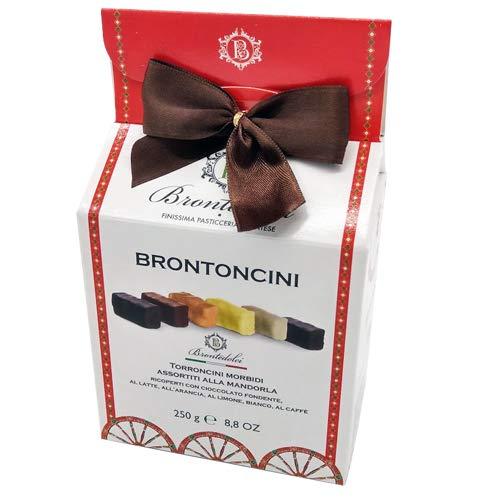 Torroncini Morbidi di Bronte - Scatola regalo -Vari Gusti 250g. Dai classici al cioccolato fondente agli aromatizzati al limone, dal sapore più deciso del caffè a quello più delicato della vaniglia.